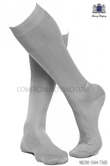 Pearl gray socks 98290-1344-7300 Ottavio Nuccio Gala.