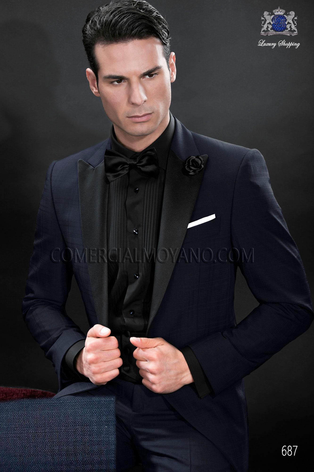 Italian bespoke tuxedo black wedding suit style 687 Ottavio Nuccio ...