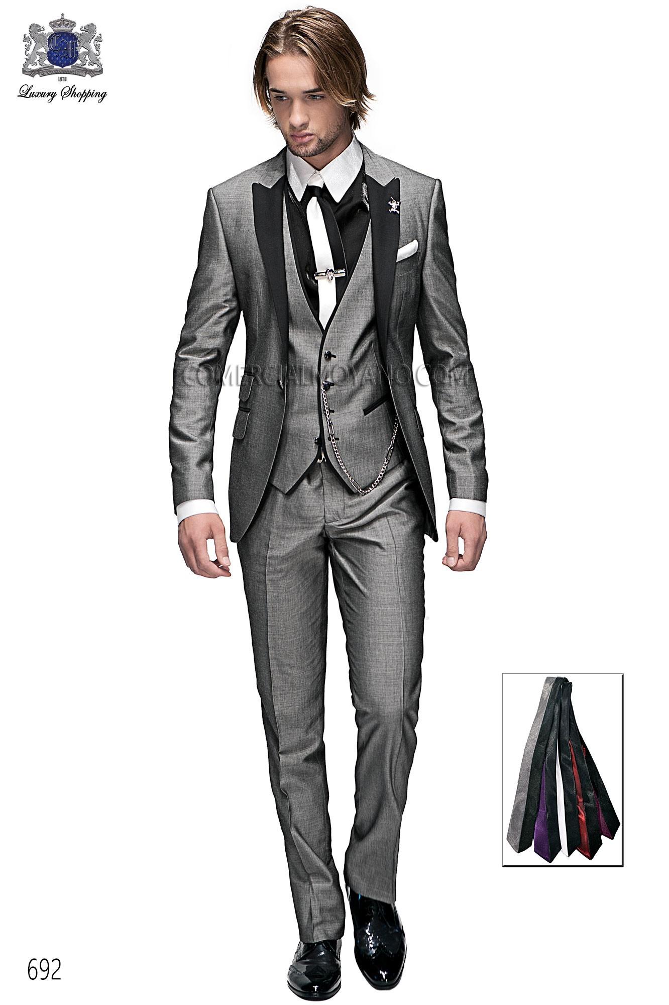 Traje de moda hombre gris modelo: 692 Ottavio Nuccio Gala colección Emotion