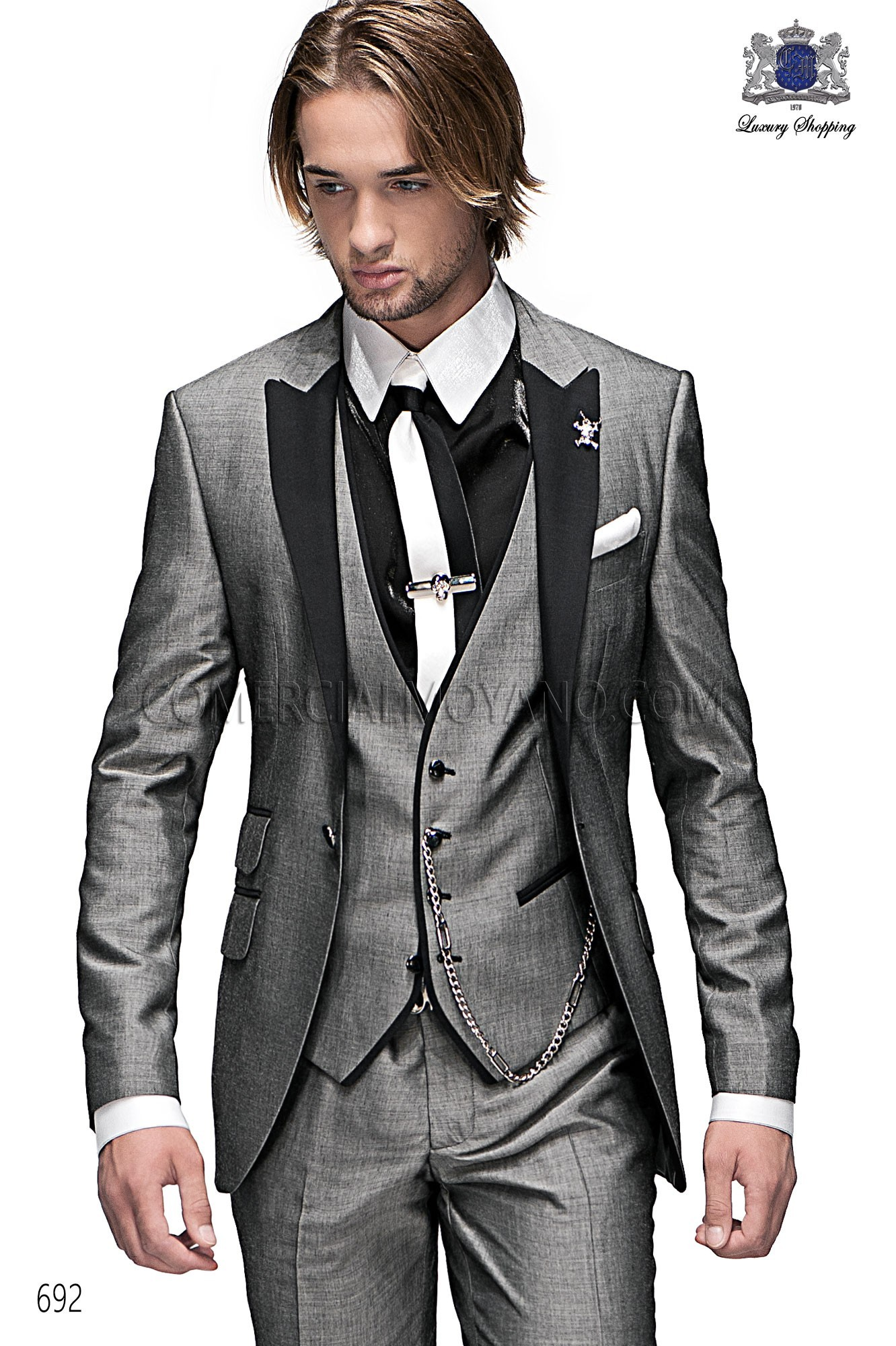 High Fashion Emotion gray men wedding suit, model: 692 Ottavio ...