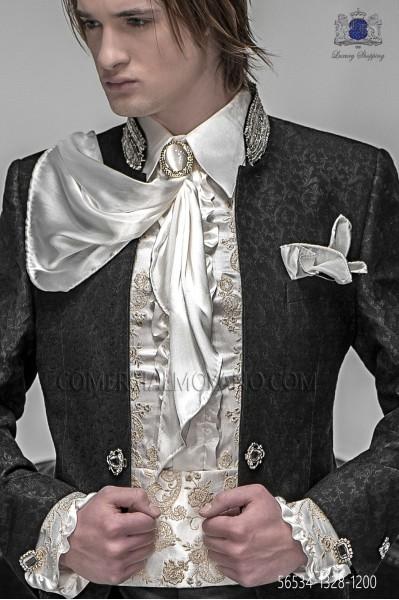 Foulard con pañuelo raso marfil 56534-1328-1200 Ottavio Nuccio Gala.