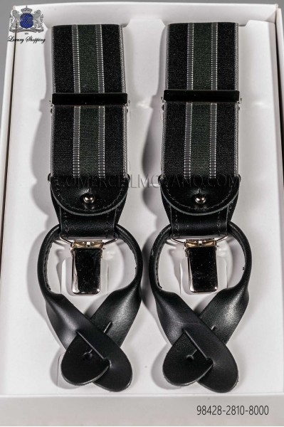 Tirantes en elastico negro con diseño 98428-2810-8000