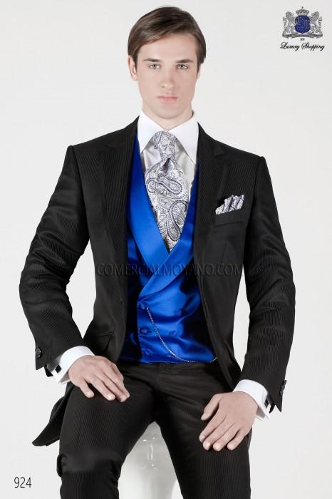 Italian black short frock groom suit 924 Ottavio Nuccio Gala