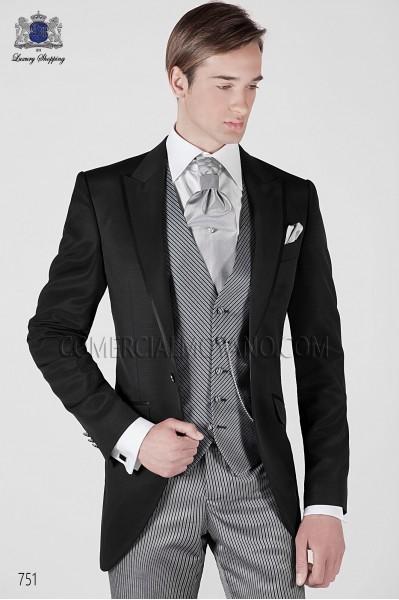 Italian black short frock groom suit 751 Ottavio Nuccio Gala