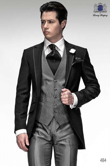 Italian black short frock groom suit 484 Ottavio Nuccio Gala