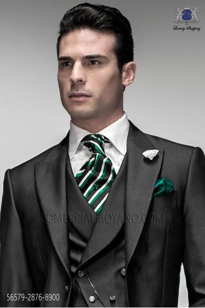 Ascot stripes and green scarf 2876-8900 Ottavio Nuccio Gala.
