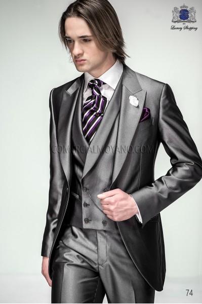 Italian anthracite gray short frock groom suit 74 Ottavio Nuccio Gala.