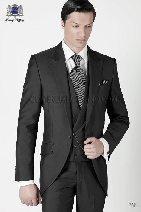 Italian gray short frock groom suit 766 Ottavio Nuccio Gala.