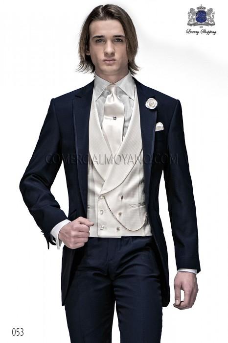 Italienisch schwarzen Bräutigam Longsakko-Anzug