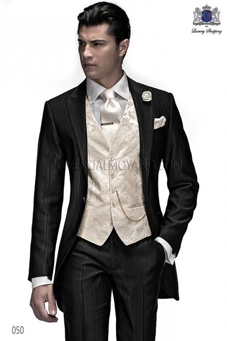 Bien connu Italienne costume de mariage noire courte redingote, Ottavio  ZR02