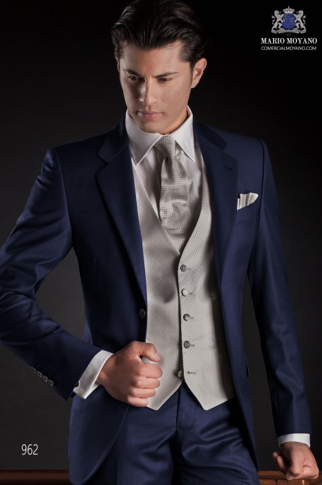 Italian blue men wedding suit 962 Ottavio Nuccio Gala