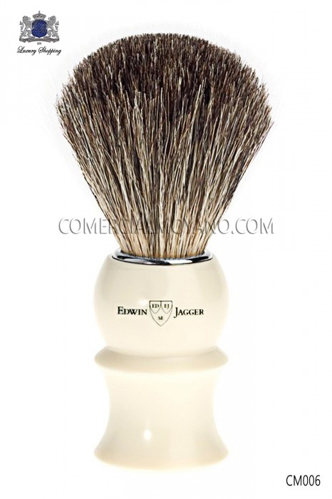 Elegant English shaving brush authentic natural badger hair. Edwin Jagger.