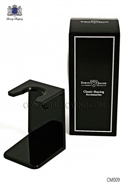 Black support for the care and drying your brush. Edwin Jagger.