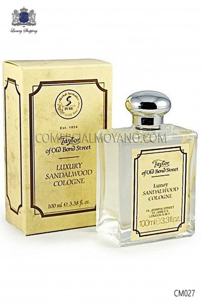 Perfume inglés para caballeros con exclusivo aroma natural Sándalo 100 ml. Taylor of Old Bond Street.