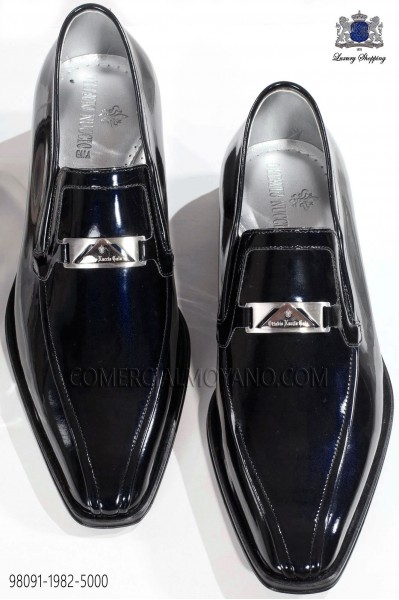 Dark Blue patent leather shoes 98091-1982-5000 Ottavio Nuccio Gala.