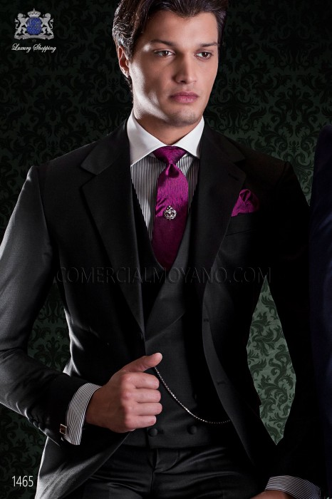 Elegant black groom suit of Italian cut Ottavio Nuccio Gala