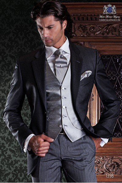 "Suit average Italian tailoring label 2 pieces, with elegant cut ""Slim"" two buttons."