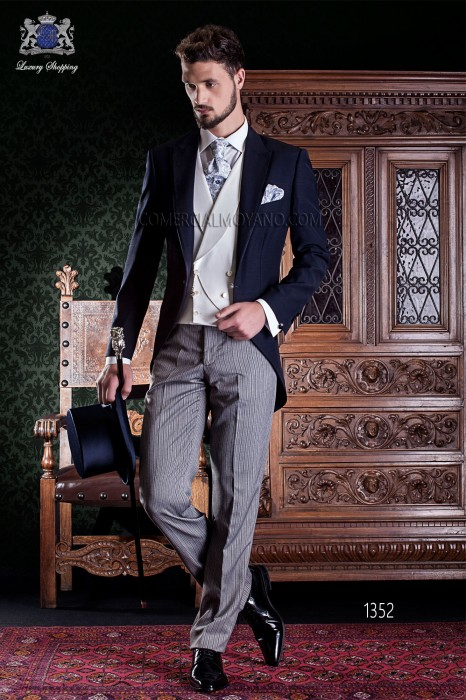 "Italian frock coat tailoring label 2 rooms, with elegant cut ""Slim""."
