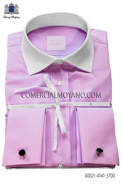 Camisa de algodón lila