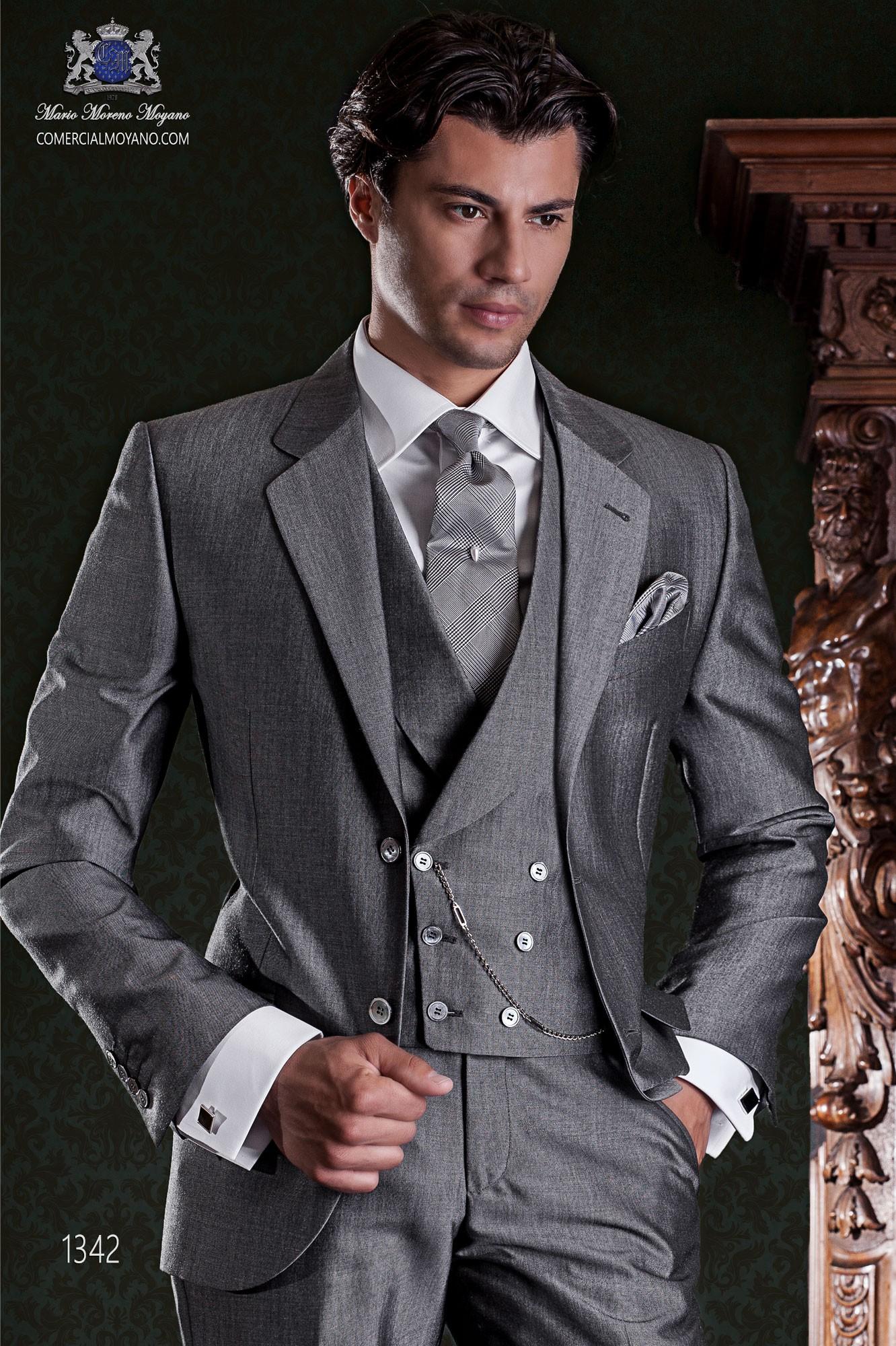 """01329c02a979b Traje de sastrería italiano de elegante corte """"Slim"""". Tejido lana de alpaca  gris. Loading zoom"""