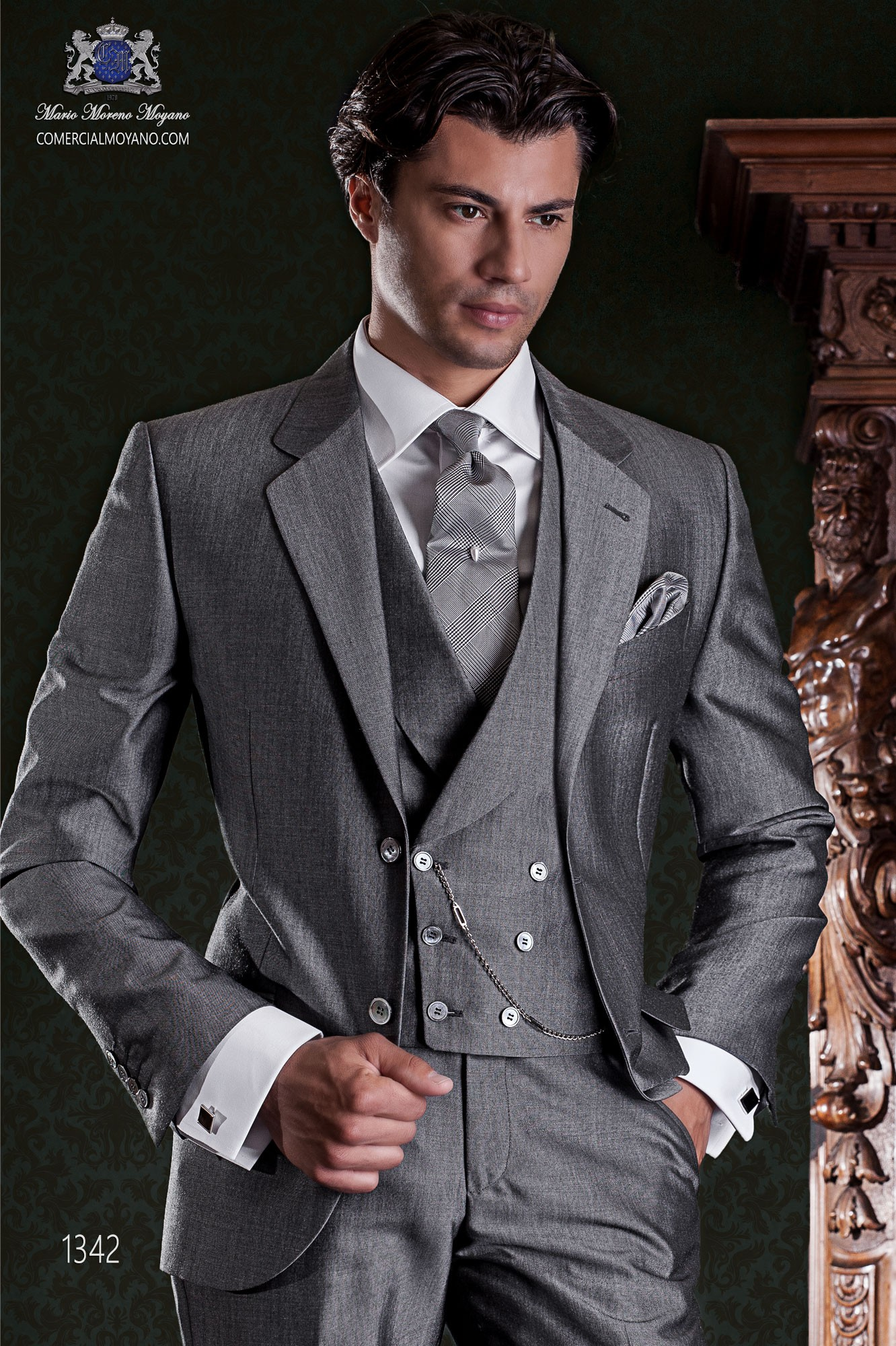http   www.comercialmoyano.com es 1794-traje-. MODELO 1342 OTTAVIO NUCCIO  GALA. Traje de novio clásico italiano gris mixto lana mohair alpaca. 0fd380cf480e
