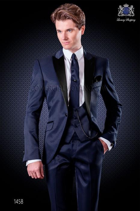 Italian fashion wedding suits in blue Ottavio Nuccio Gala