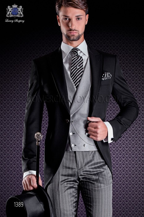 Italian fashion wedding suits in black Ottavio Nuccio Gala
