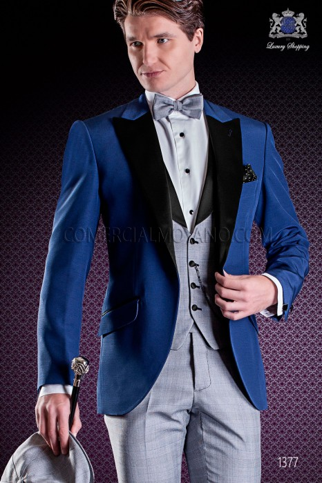Italian fashion wedding suits in blue, Wales, Ottavio Nuccio Gala