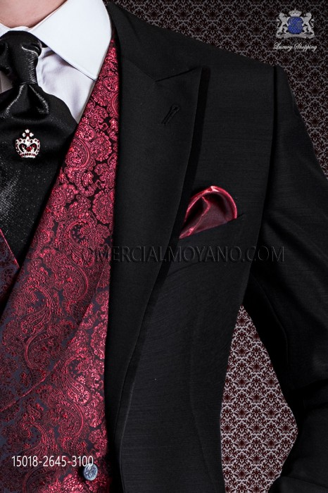Red lurex handkerchief 15018-2645-3100 Ottavio Nuccio Gala.