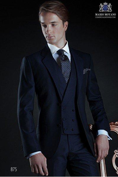 Italian bespoke blue groom suit 875 Ottavio Nuccio Gala