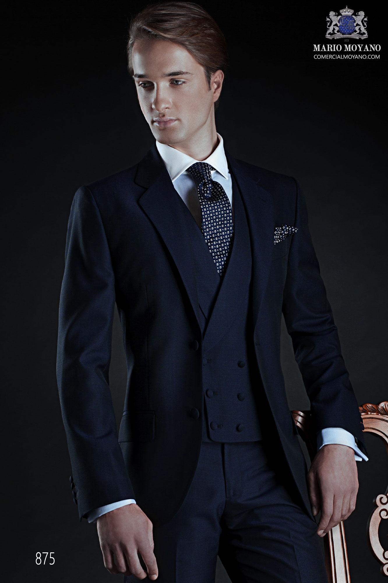 Italian bespoke blue wedding suit style 875 Ottavio Nuccio Gala.
