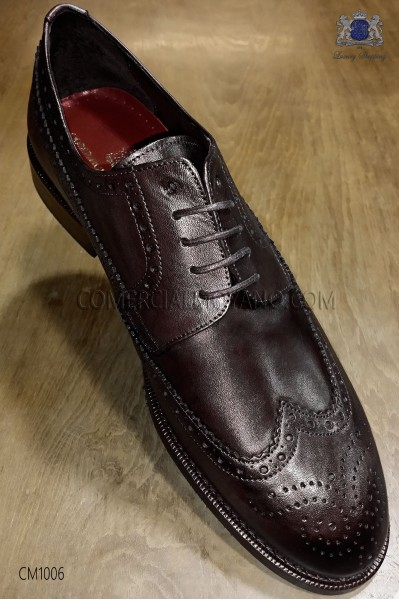 Derby wingtips full brogue cognac