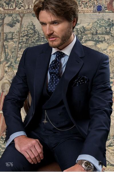 Italian bespoke blue groom suit 1676 Ottavio Nuccio Gala