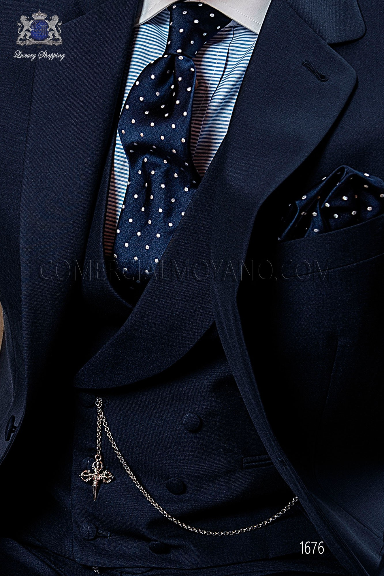 Italian gentleman blue men wedding suit, model: 1175 Ottavio Nuccio Gala 2017 Gentleman Collection