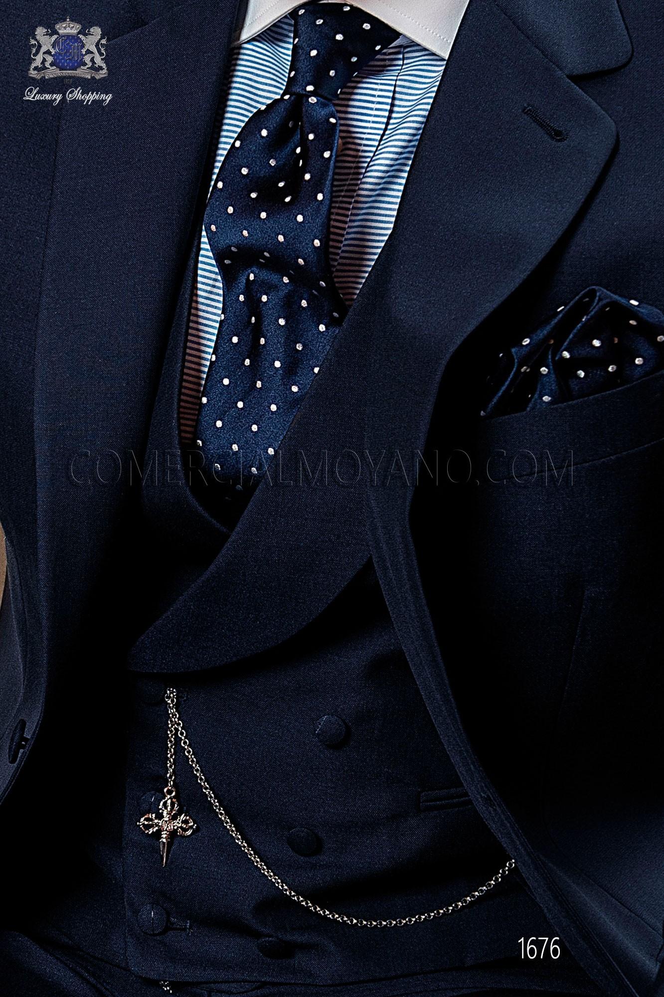 Traje Gentleman de novio azul modelo: 1175 Ottavio Nuccio Gala colección Gentleman