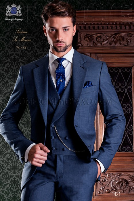 blau haifischhaut italienischer schneider anzug stylisch schnitt. Black Bedroom Furniture Sets. Home Design Ideas