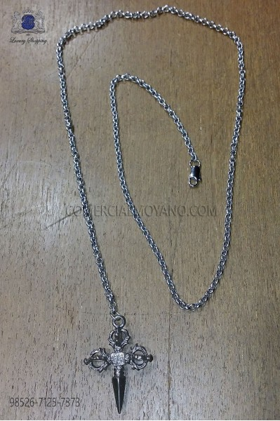 Chain with sword pendant 98526-7125-7373 Ottavio Nuccio Gala.