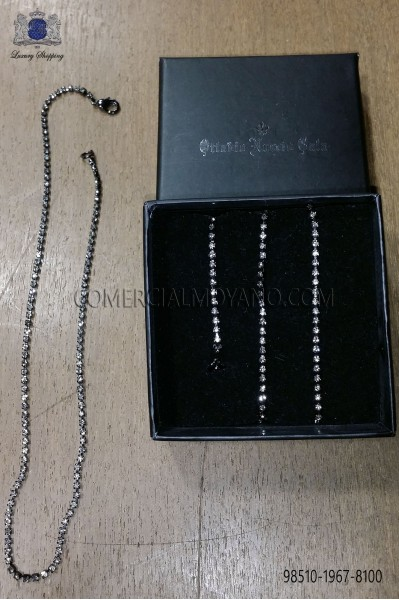 Black chain with strass Ottavio Nuccio Gala