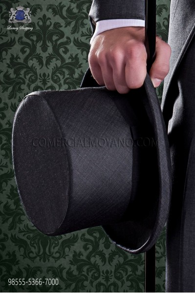 Gray sharkskin top hat
