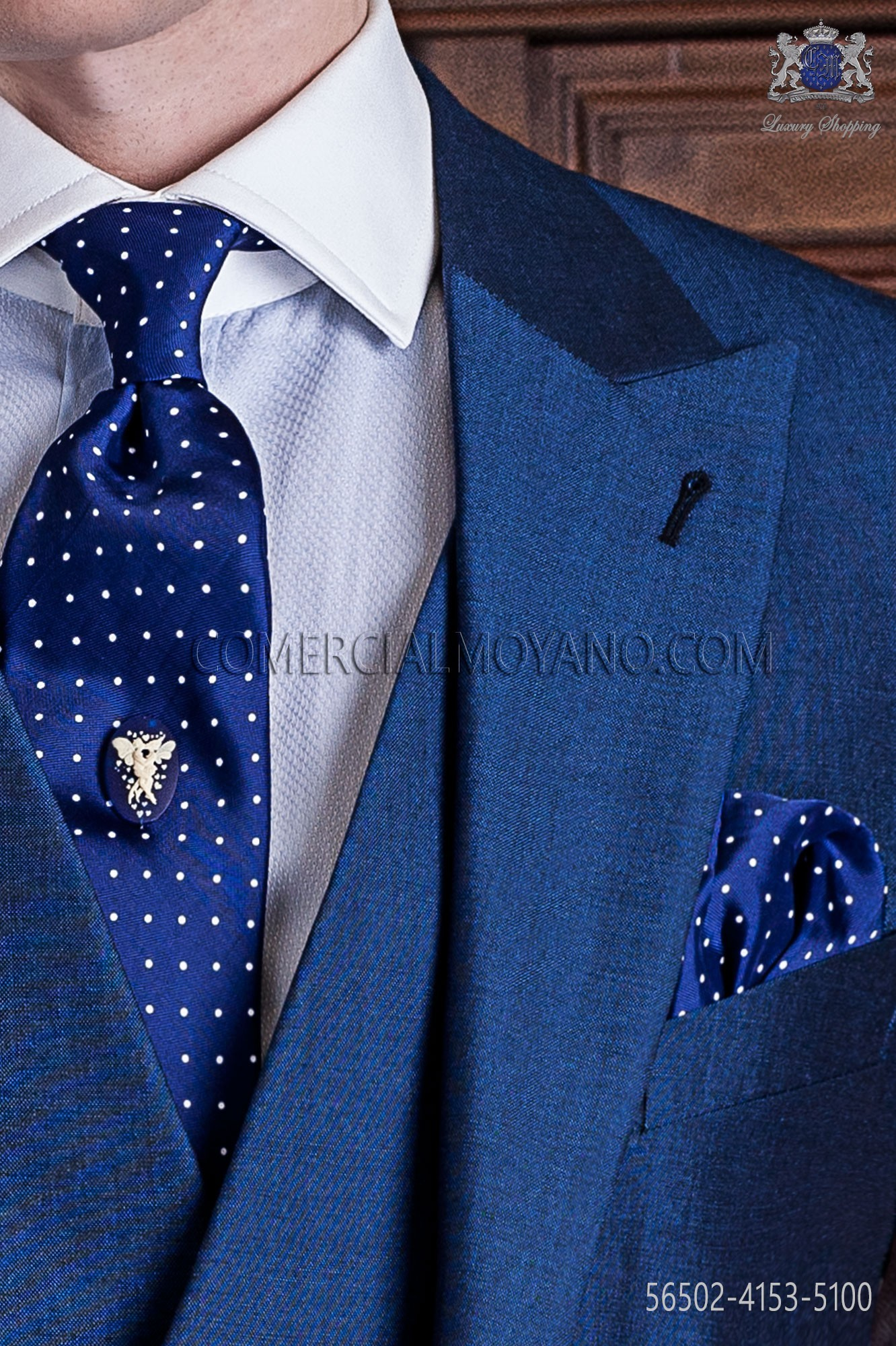 Details about  /FIORIO Milan Men/'s Tie Blue Polka Dot Burgundy Lined CM 8 Made IN Italy