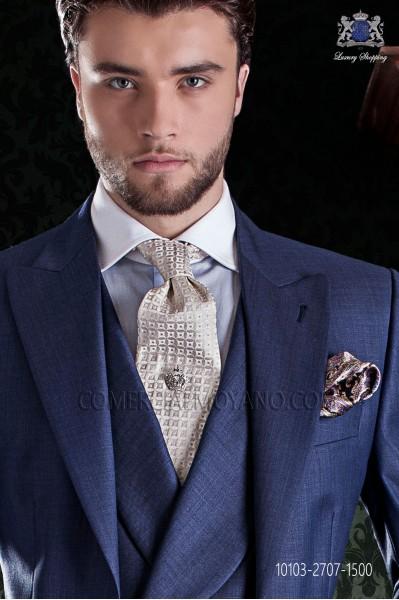 Ivory silk tie On Gala
