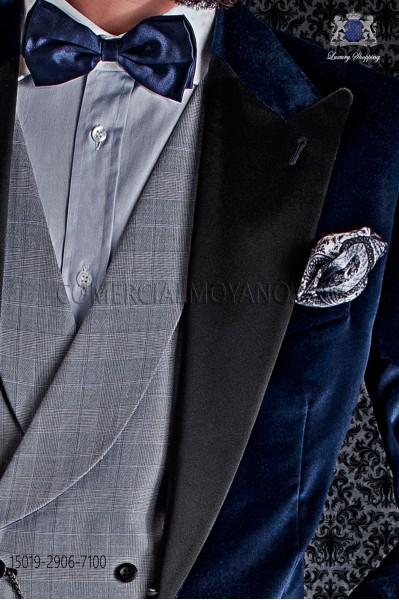 Gray Silk pocket handkerchief cashmere