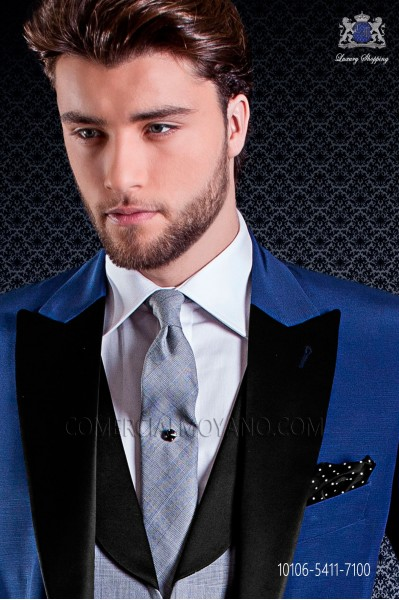 Narrow glen plaid design tie