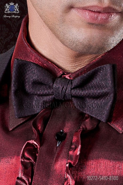 Burgundy groom bow tie
