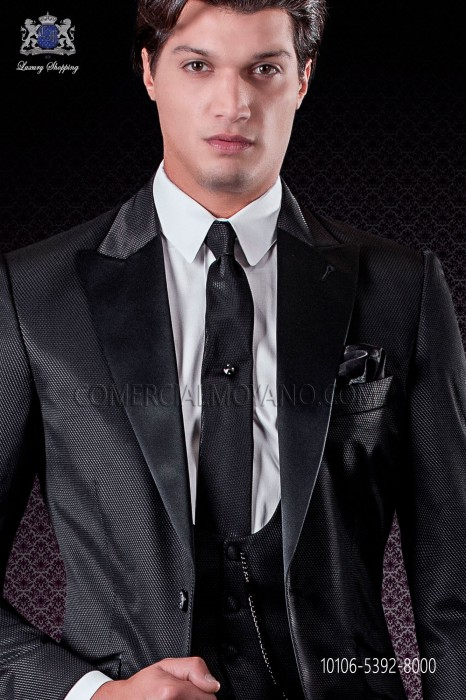 Narrow black tie new performance fabric