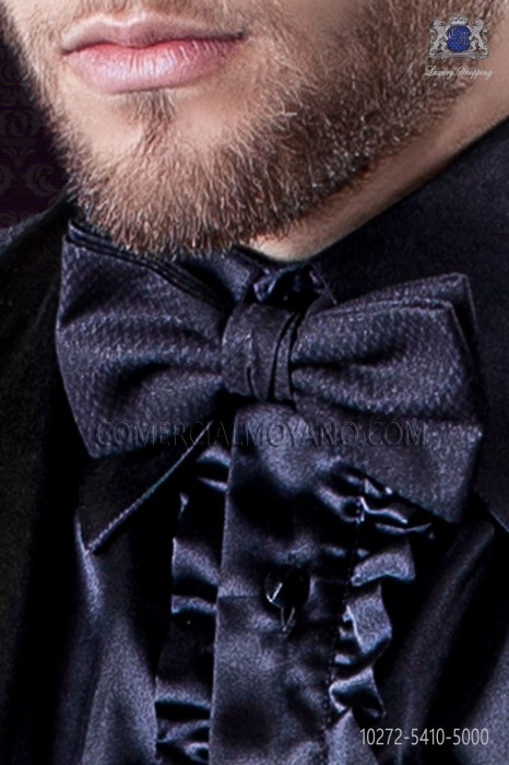 Blue fashion bow tie with lurex microdots