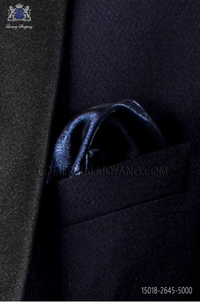 Pañuelo de bolsillo lúrex azul