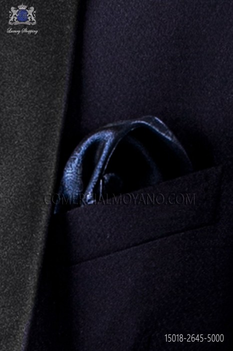 Blue lurex handkerchief