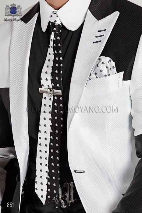 Black shirt with white collar 40067-4135-8010 Ottavio Nuccio Gala.
