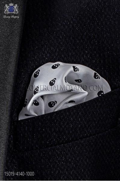 White skull handkerchief 15019-4140-1000 Ottavio Nuccio Gala